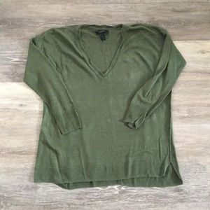 J. Crew linen cotton v neck sweater